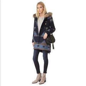NEW BB Dakota Dalley Tribal Pattern Hooded Coat